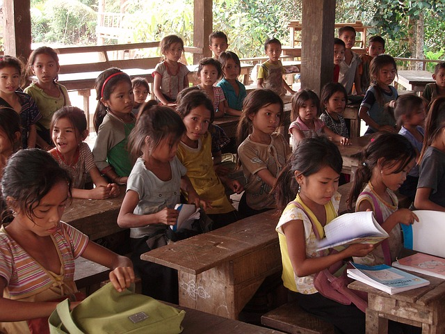 základní škola v Laosu