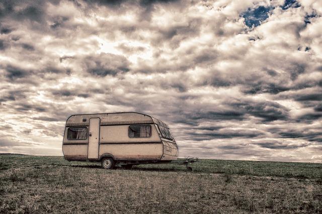 karavan na bydlení